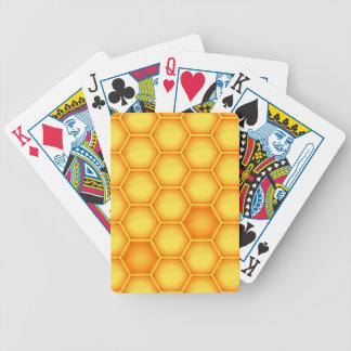 Gelbes Bienenwaben-Muster Pokerkarten