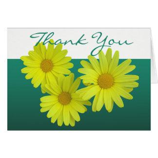 Gelbes Blumen Gänseblümchen-danken bunter FotoChic Karte