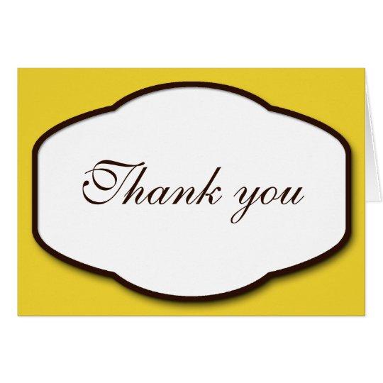 Gelbes Brown u. Weiß dankt Ihnen Mitteilungskarten Mitteilungskarte