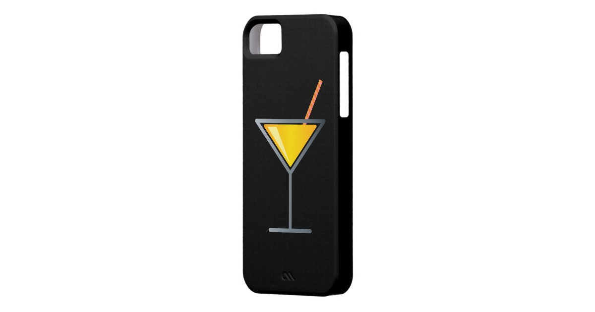 Gelbes cocktail martini glas iphone 5 etuis zazzle for Fenetre 0 5 5