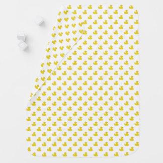 Gelbes Ducky Gummi| irgendein Farbhintergrund Puckdecke