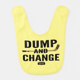 Gelbes Dump-und Änderungs-Hockey Lätzchen