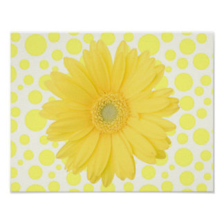 "Gelbes Gänseblümchen 14 x 11"" Plakat"