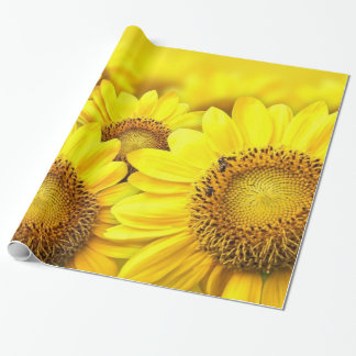 Gelbes Geschenkpapier