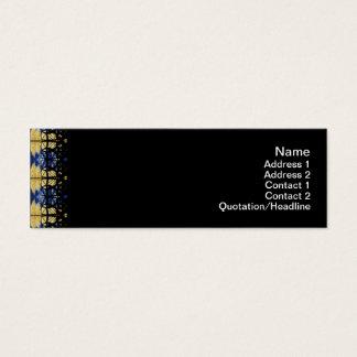 Gelbes Gras-Gitter Mini Visitenkarte