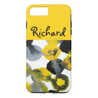 Gelbes, graues und schwarzes Intertactions iPhone 8 Plus/7 Plus Hülle