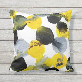 Gelbes, graues und schwarzes Intertactions Muster Kissen Für Draußen