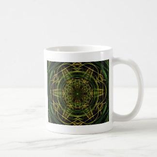 Gelbes Grün-Fraktal Kaffeetasse