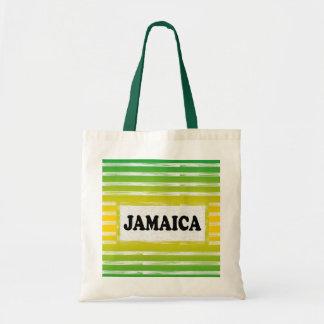 Gelbes Grün-Schwarz-Taschen-Tasche Jamaikas Tragetasche