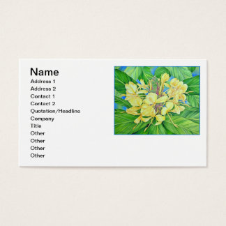 Gelbes Ingwer-Aquarell Visitenkarte