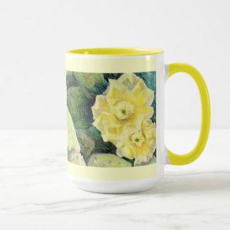 Gelbes Kaktus-Blüten-Blumen-Geschenk Tasse