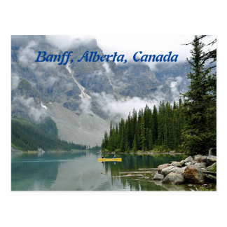 Gelbes Kanu, Banff, Alberta, Kanada Postkarte