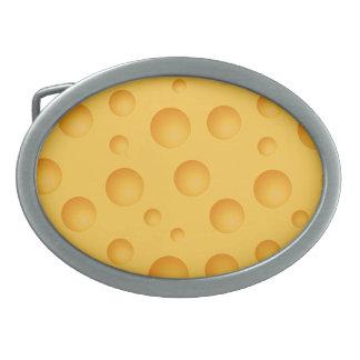 Gelbes Käse-Muster Ovale Gürtelschnallen