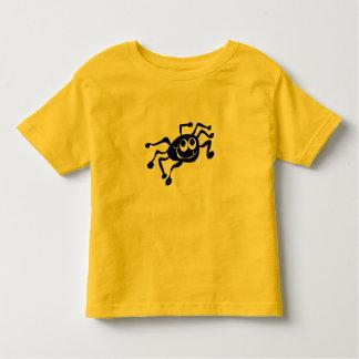 Gelbes Kleinkind T-shirt mit Spinne