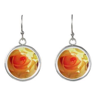 Gelbes Licht-Rose Ohrringe