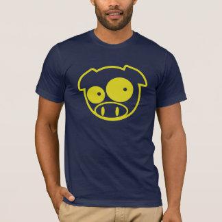 Gelbes Maskottchen-Schwein T-Shirt