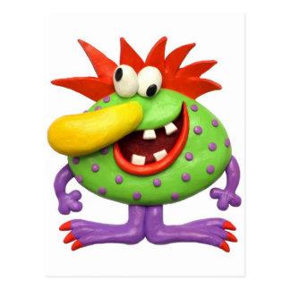 Gelbes Nasen-Monster Postkarte