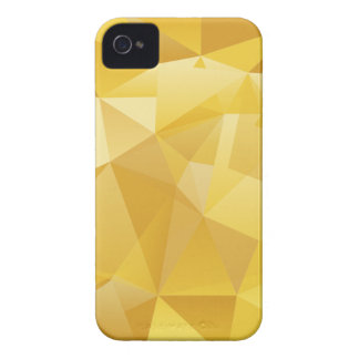 Gelbes Polygon iPhone 4 Cover