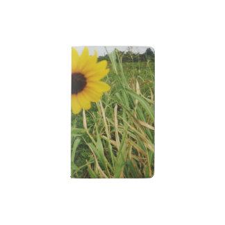 Gelbes Sonnenblume-Taschen-Notizbuch Moleskine Taschennotizbuch