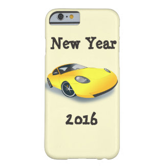 Gelbes Sport-Auto-neues Jahr 2016 Iphone6 Barely There iPhone 6 Hülle