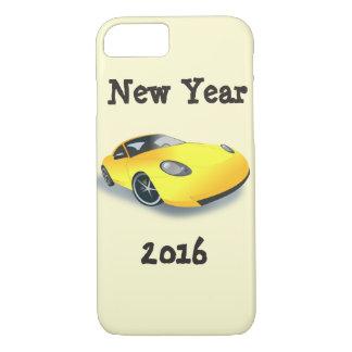 Gelbes Sport-Auto-neues Jahr iPhone 2016 7 iPhone 7 Hülle