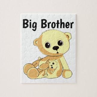 Gelbes Teddybär-Puzzlespiel personifizieren