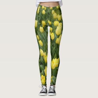 Gelbes Tulpe-Feld Legging Leggings