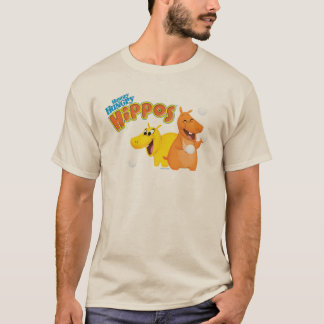Gelbes u. orange Flusspferd T-Shirt