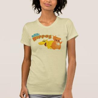 Gelbes u. orange Flusspferd T-Shirt