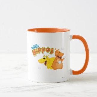 Gelbes u. orange Flusspferd Tasse