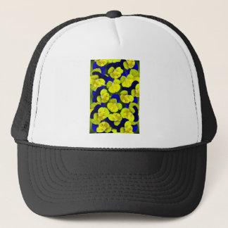 Gelbes und blaues Stiefmütterchen Truckerkappe