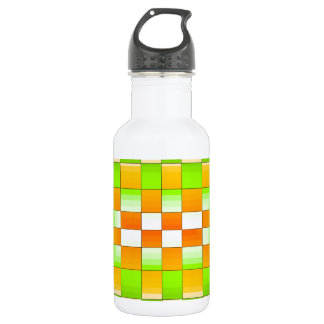 Gelbes und grünes Täuschungs-Schach-Brett Trinkflaschen