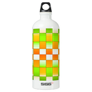 Gelbes und grünes Täuschungs-Schach-Brett Wasserflaschen