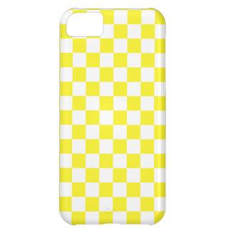 Gelbes und weißes kariertes - iPhone 5 Fall iPhone 5C Hülle