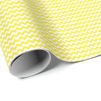 Gelbes und weißes kleines Zickzack Geschenkpapier