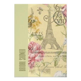 gelbes Vintages Brautparty Turms Paris Eiffel Karte