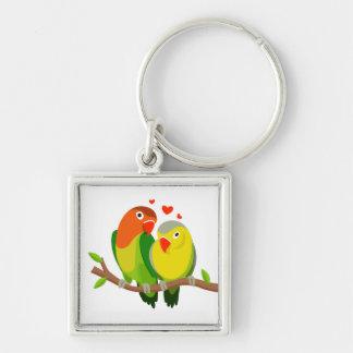 Gelbes Wedding GrünLovebirds, Verlobung Schlüsselanhänger