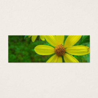 Gelbes Wildblume-Lesezeichen Mini Visitenkarte