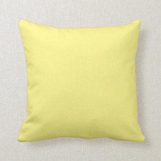 Gelbes Wurfs-Kissen Kissen
