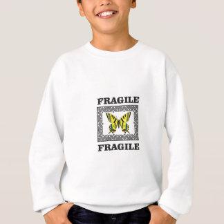 gelbes zerbrechliches sweatshirt