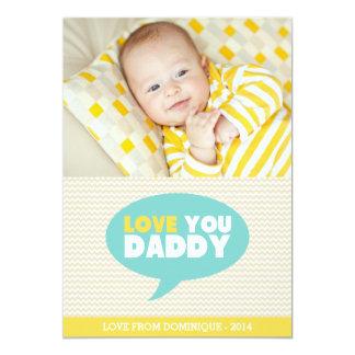 Gelbes Zickzack der Vatertags-Karte des Liebe-Sie 12,7 X 17,8 Cm Einladungskarte