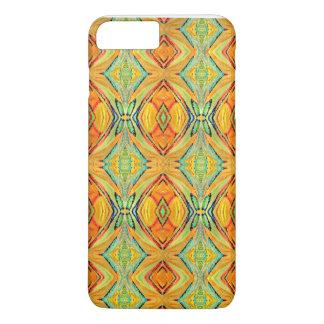 Gelbgrün-Azteke-Muster iPhone 8 Plus/7 Plus Hülle