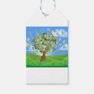 Geld-Baum-Konzept Geschenkanhänger