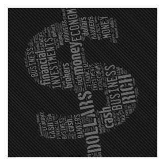 Geld geschriebene Geschäfts-Geschenke des Poster