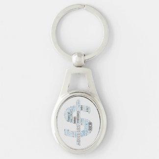 Geld geschriebene Geschäfts-Geschenke des Silberfarbener Oval Schlüsselanhänger