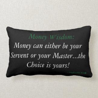 Geld-Klugheits-Akzent-Kissen Lendenkissen
