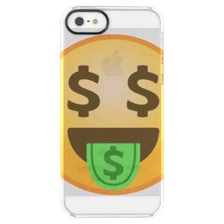 Geld-Mund Emoji Durchsichtige iPhone SE/5/5s Hülle
