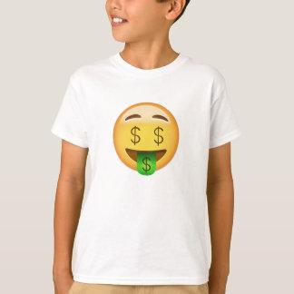 Geld-Mund Gesicht Emoji T-Shirt