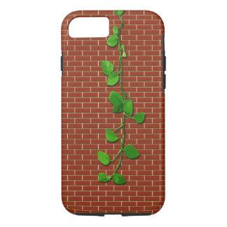 Geld-Pflanze auf rotem Brickwall iPhone 8/7 Hülle