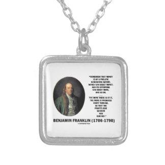 Geld-reiche erzeugennatur Bens Franklin Versilberte Kette